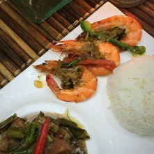 Bicol Express and Shrimp sautéed with butter