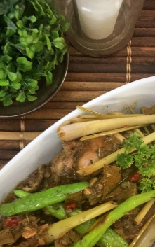 Chicken adobo with lemongrass
